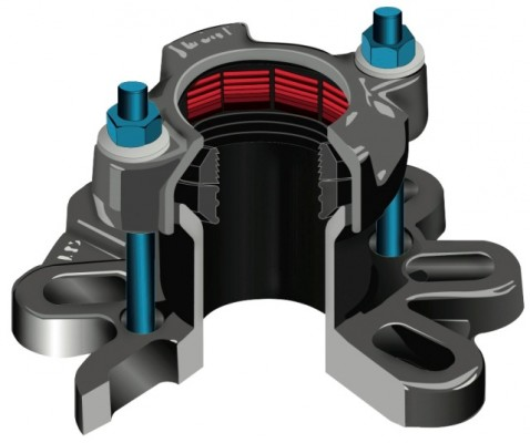 Viking Johnson AquaGrip FlangeAdaptor Small CGI