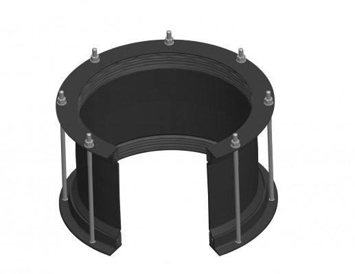 Maxi coupling large diameter